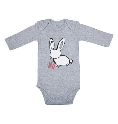 Rabit Grey Romper for Infant Baby
