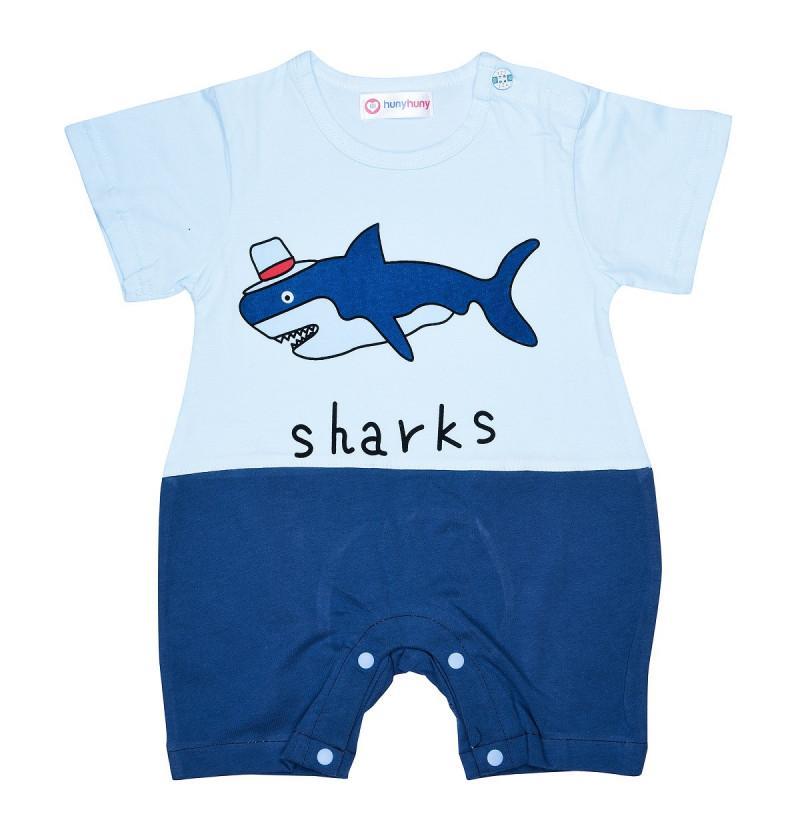 Bamboo Cotton Party Shark Baby Dress