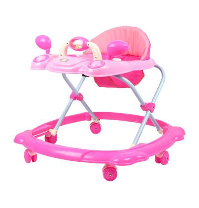 Backrest Baby Walker with 6 wheels
