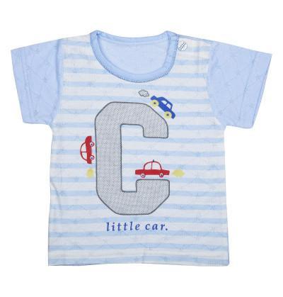 Car Blue Strip Newborn Tees
