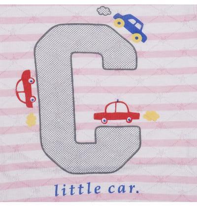Car Pink Strip Newborn Tees