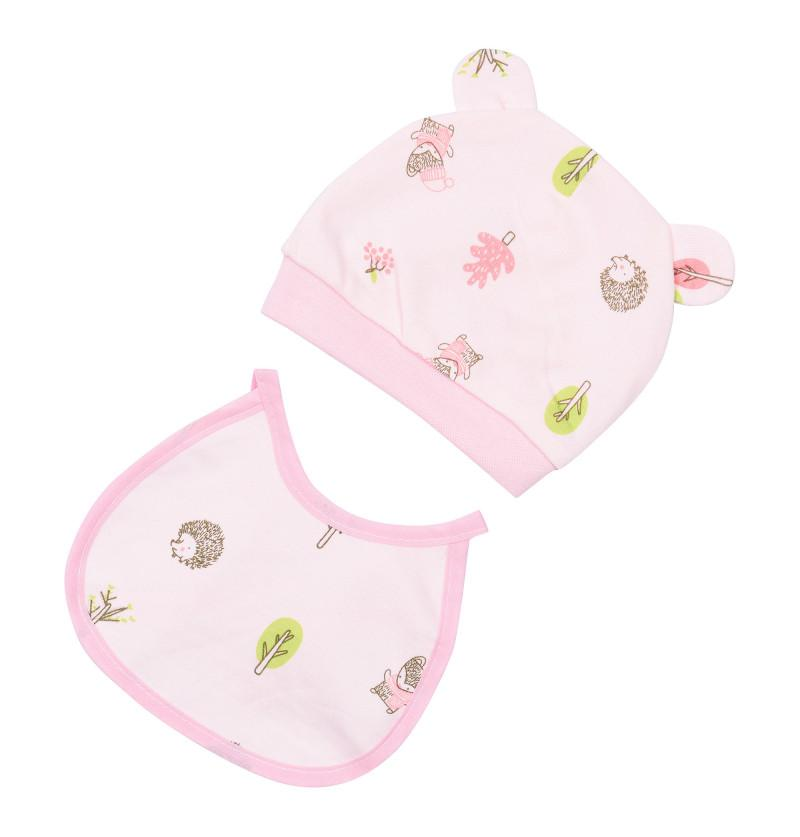 Newborn Baby Cap and Bib