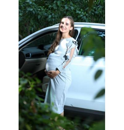Elegant Grey Maternity Wear