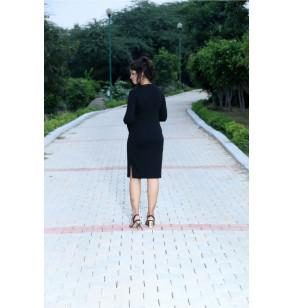 Black Graceful Maternity Dress