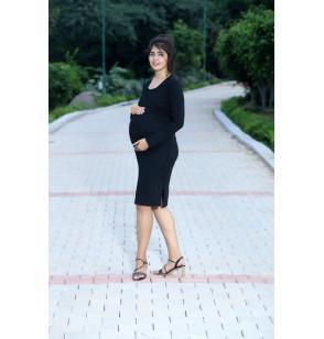 Black Graceful Maternity Dress