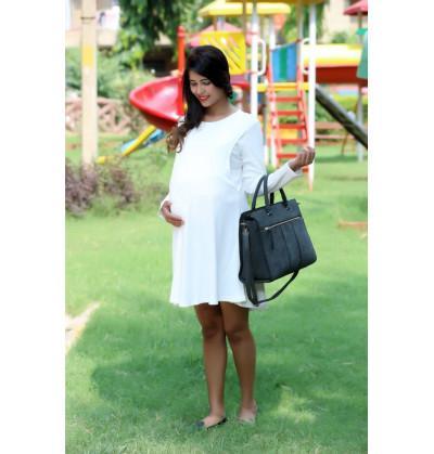 White Maternity Gorgeous Office Dress