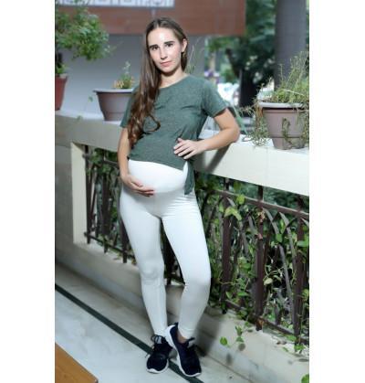 White Maternity Leggings cum Pant