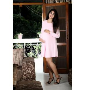 Baby Pink Maternity Gorgeous Office Dress