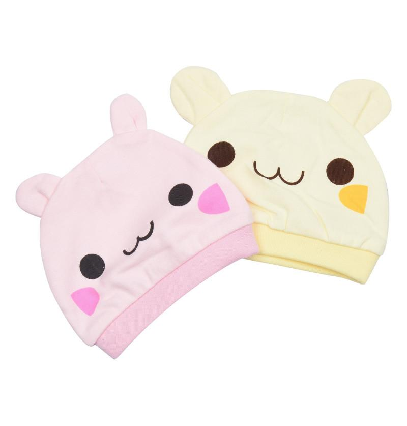 Cute Newborn Baby Caps 2pc