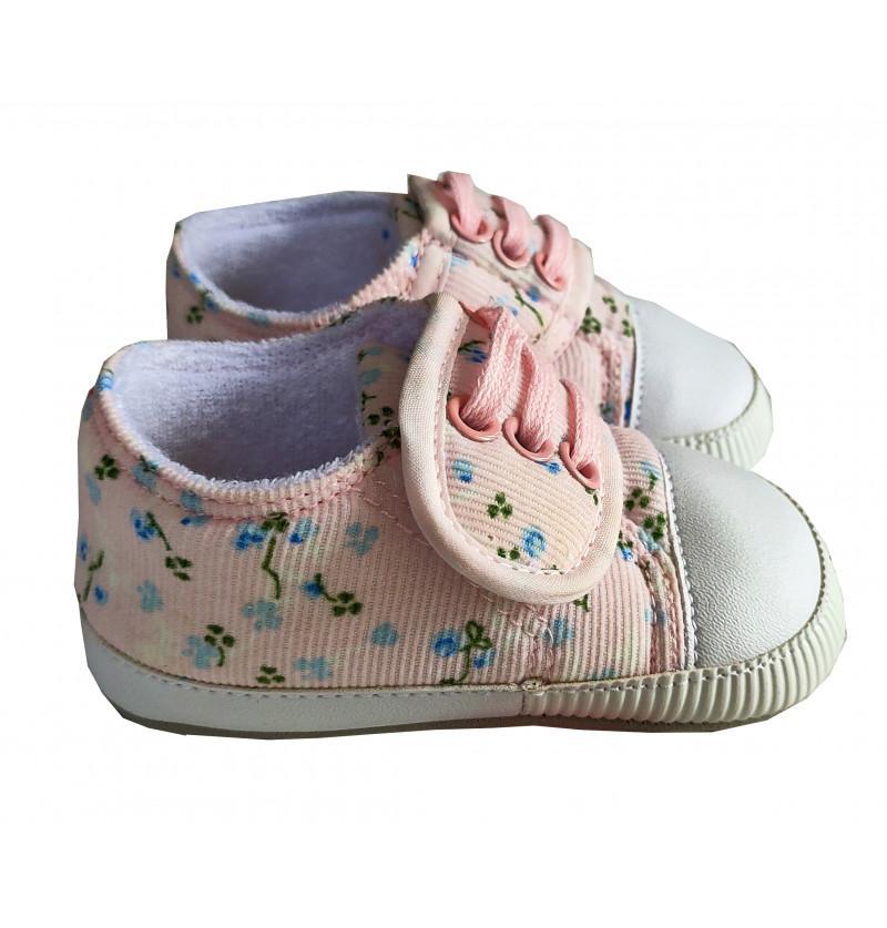 HunyHuny White Floral Shoes...