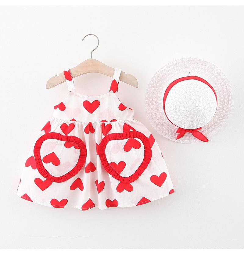 Infant Baby Frock with Hat...