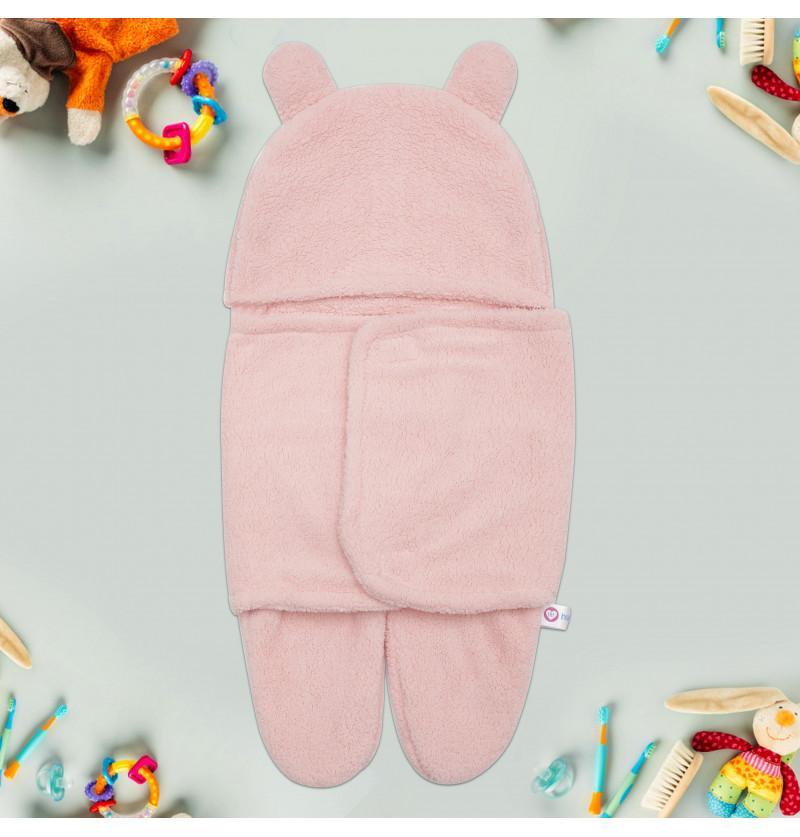 Newborn Baby Hooded Swaddle...