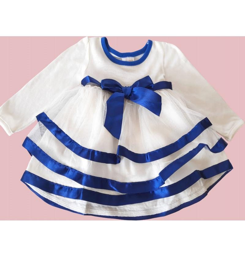 Infant Baby Frock - White...