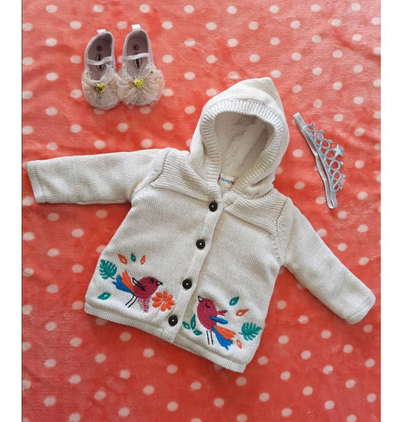 Newborn Baby Hooded Woollen...