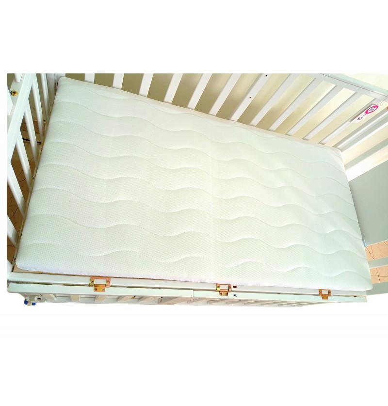 Cot Mattress White Quilt