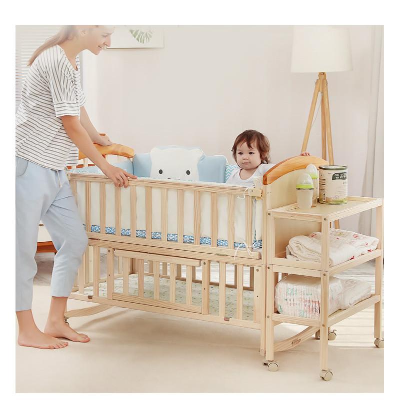 Baby Cot Crib Pinewood 11...