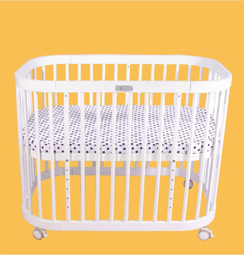 Baby Cot Bed White Oval...