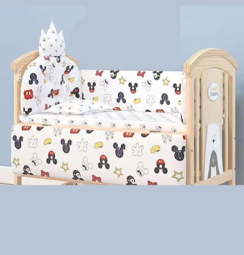 Baby Cot Bumper Set- Mickey...