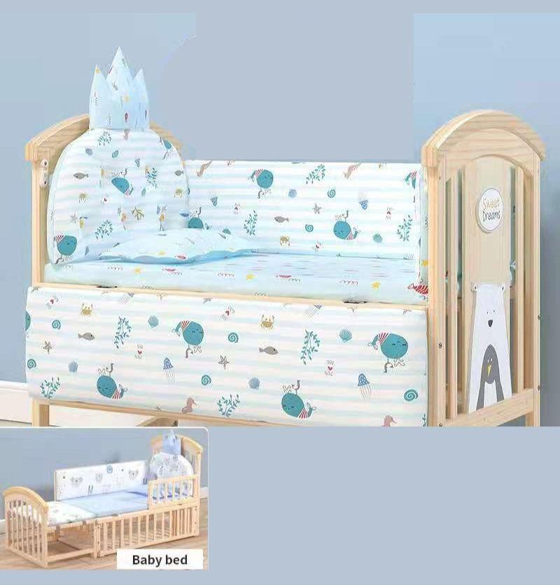 Baby Cot Bumper Set- Blue...