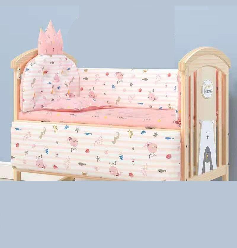 Baby Bed Cot Bumper Set -...