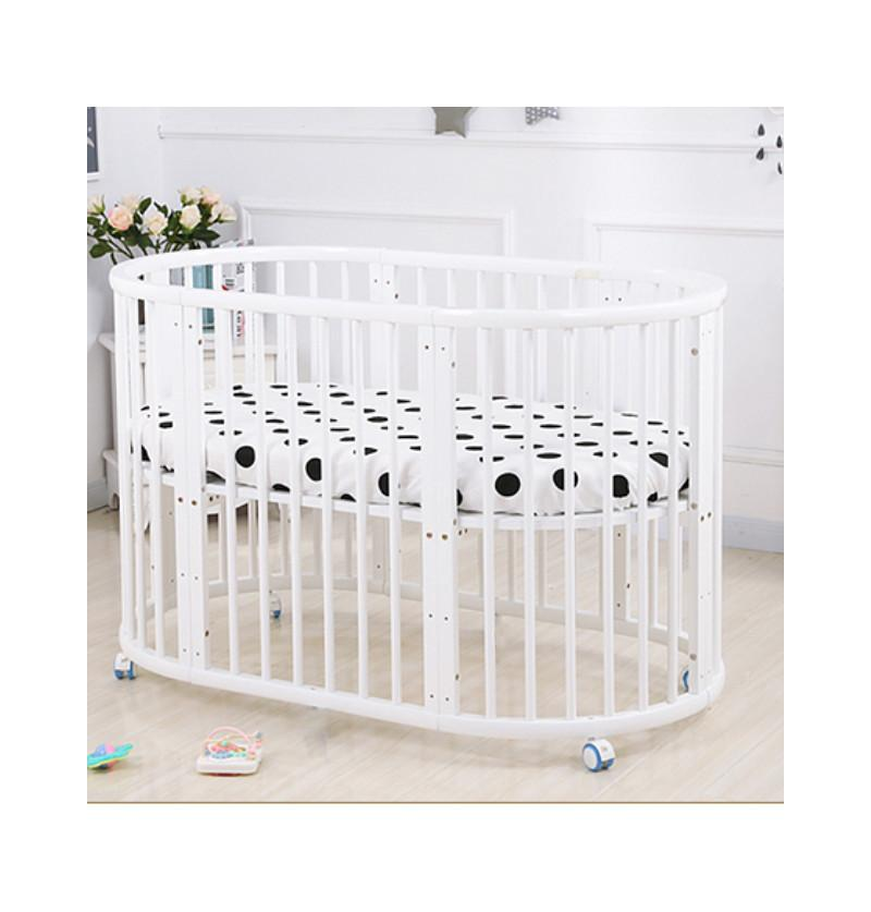Baby Cot Crib Oval - With...