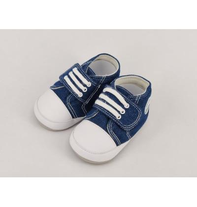 Blue and White Shoes for Infants